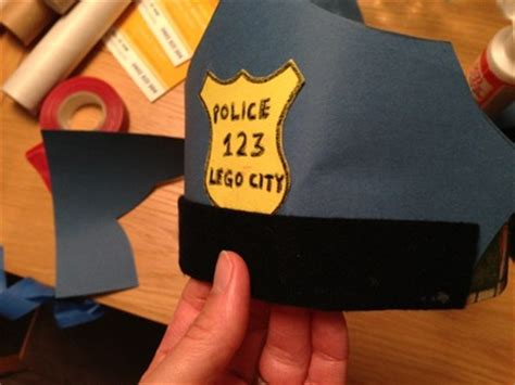 How To Make A Badge Out Of Paper - policeman s hat my kid craft