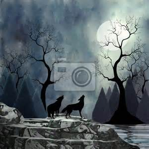 wall mural wolves howling at the moon wolf pixersize com spring wolf family wall mural amp photo wallpaper photowall