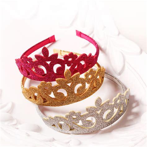 aliexpress buy 15pcs lot princess crown headband glitter felt vintage gold silver tiara