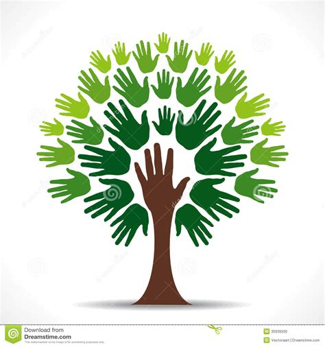 Green Hand Tree Stock Vector Illustration Of Love Isolated 35939200 Teamwork Tree Logo Vector Stock Vector Illustration Of Ecology Leafs 34023988