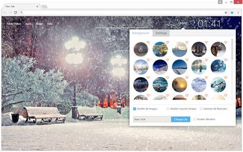 theme google chrome winter winter snow wallpaper hd new tab themes 2018 chrome web