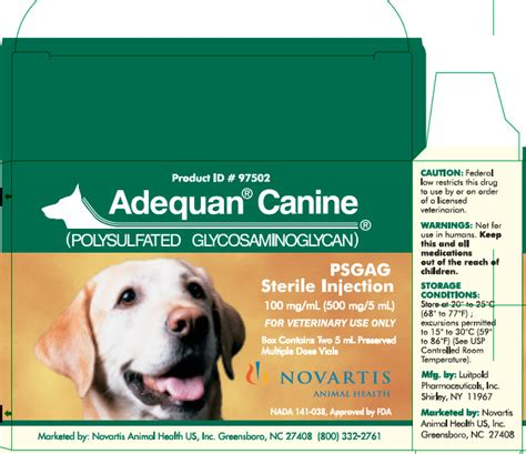 adequan dosage for dogs adequan canine novartis animal health veterinary package insert page 2