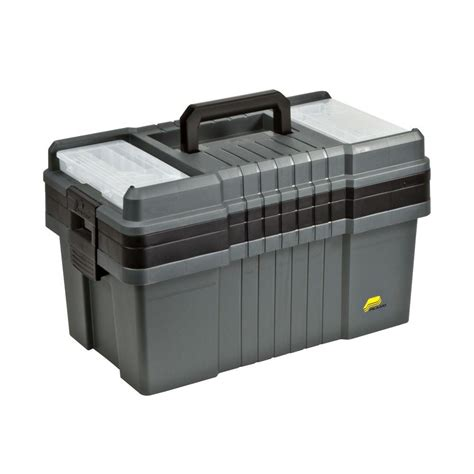 plano 22 in contractor pro tool box graphite gray shop