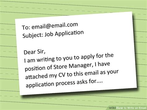 what to write in email subject when sending resume how to write an email with pictures wikihow