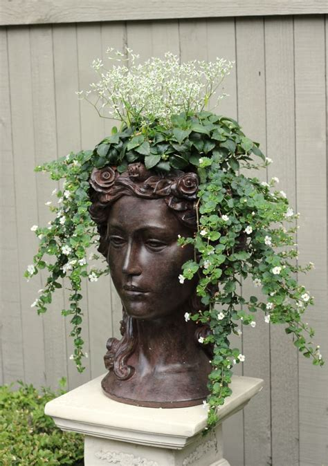 face planters head planter garden containers pinterest