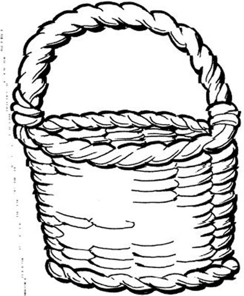 coloring page of empty easter basket empty easter basket coloring pages color bros