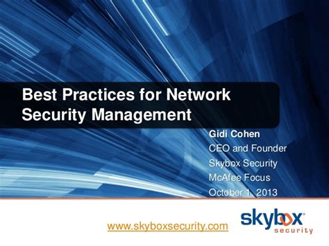 best practices for network security management