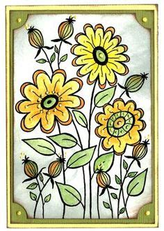 woodware doodle a flower 1000 images about cards woodware on sts