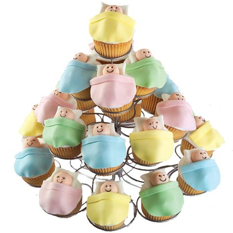 Cupcake Decorating Baby Shower by High Rise Baby Shower Cupcakes Wilton