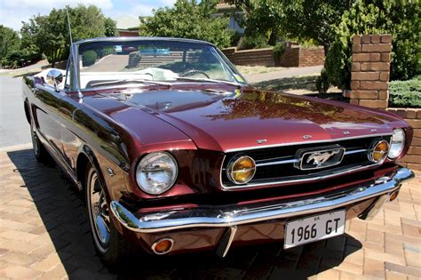 vintage convertible vintage burgundy 1966 ford mustang gt convertible