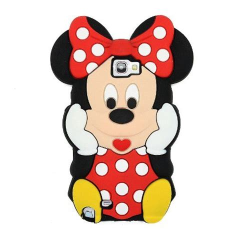 Softcase Silicon Tpu 3d Mickey Minnie Tsum Tsum For Samsung J2 black 3d mouse style silicone soft cover for samsung galaxy note 2 ii n7100 galaxy