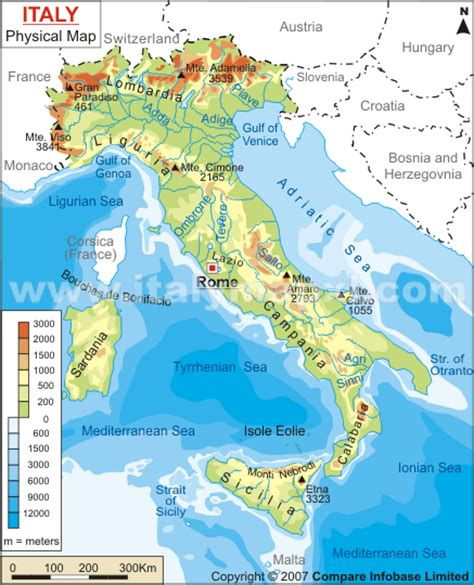 geographical map of italy venice italy political map image search results