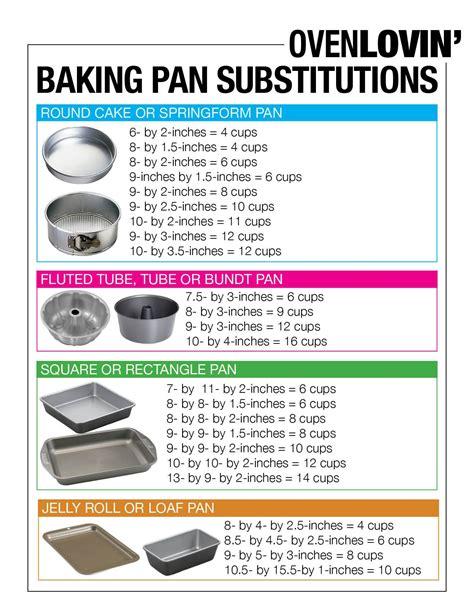 steam pan size chart baking pan conversion chart oven lovin fabulous food