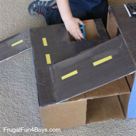 How To Build A Car Garage cardboard box hot wheels car garage with ramps