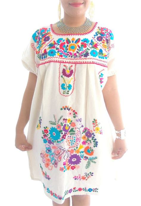 Handmade Mexican Embroidered Dresses - mexican embroidered dress my style
