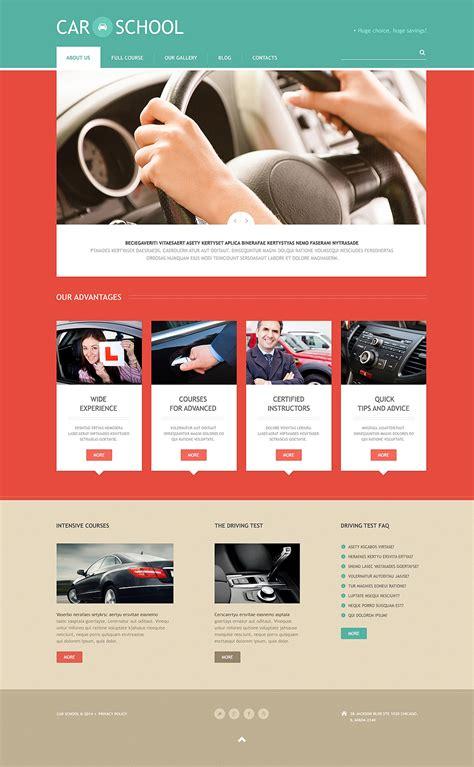 Demo Preview For Traffic School Responsive Wordpress Theme 48247 Flight School Website Template