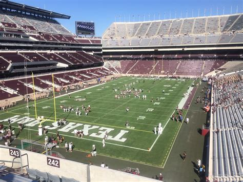kyle field visitor section kyle field section 242 rateyourseats com