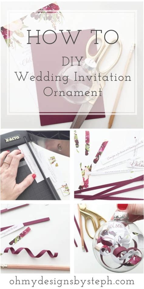 how to make a wedding invitation ornament wedding invitation ornament married