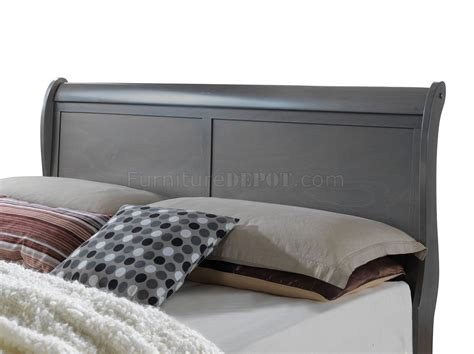 louis philippe iii sleigh bedroom set gray bedroom louis philippe iii cm7866gy 4pc youth bedroom set in gray
