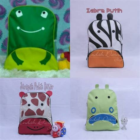 Souvenir Clear Back Pack Kidstas Ransel 3 tas ransel anak besar karakter animal besar souvenir ulang tahun anak murah grosir elevenia