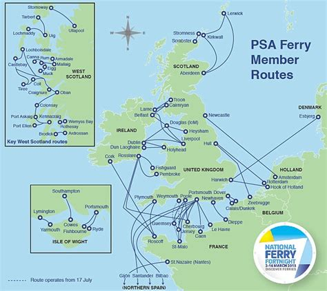 map uk ferry routes ferry holidays starting your by ferry has never
