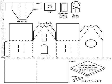 paper house templates to print putz house pattern glitterhouse patterns printable