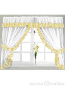Gingham check yellow amp white kitchen curtain curtains uk