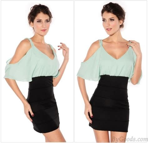 44064 sling basic dress simple strapless sling dress ol dress fashion dresses