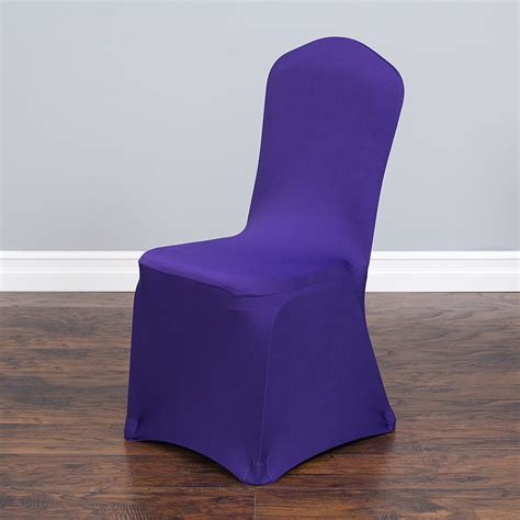 purple folding chair covers stretch banquet chair cover purple
