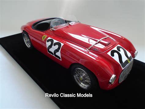 ferrari classic models ferrari 166 mm 1949 1 8 scale 187 revilo classic models