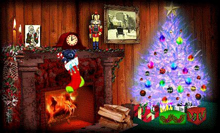 christmas fireplaces animated images gifs pictures animations
