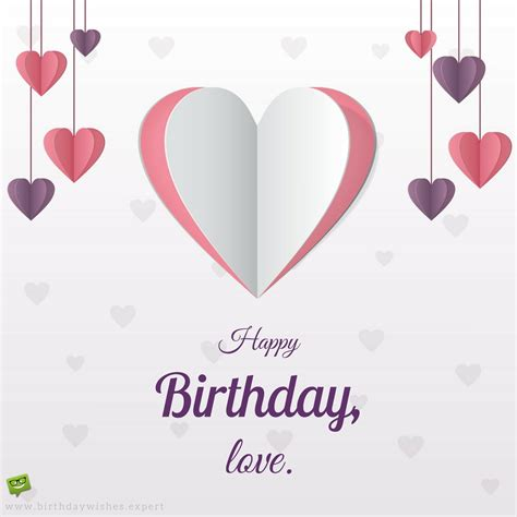 happy birthday lover birthday messages