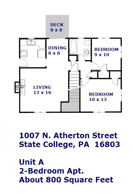 state college one bedroom apartments 1007 n atherton street 2 bedroom apartment state