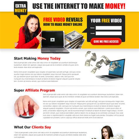 design online and earn money money online landing page design templates to earn 2