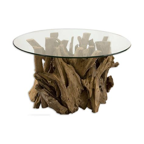 Uttermost 25519 Driftwood Glass Top Coffee Table Atg Stores Driftwood Glass Coffee Table