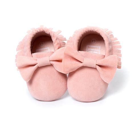 baby matte brown matte bow baby tassel soft sole leather shoes