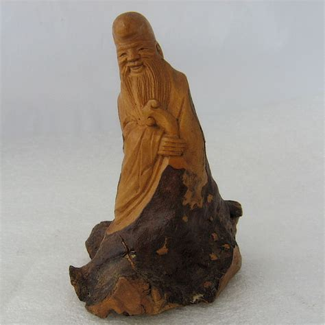 Lu Wood wood root carving lu tung pin figure immortal from