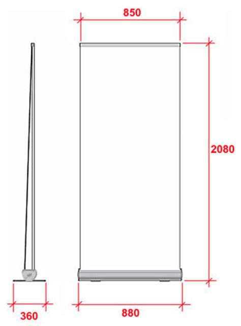budget pull up banners 166 slimline warehouse