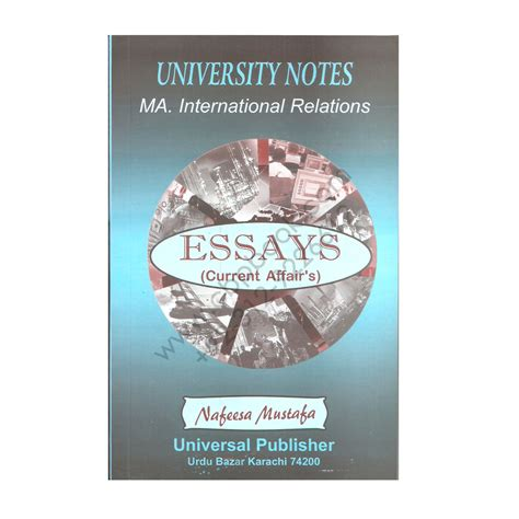 Ma In International Relations And Mba by Ma International Relations Essays On Current Affair