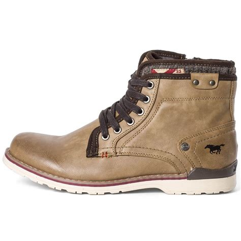 mustang 4061 501 mens ankle boots in brown