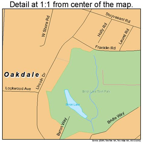 oakdale new york street map 3654144