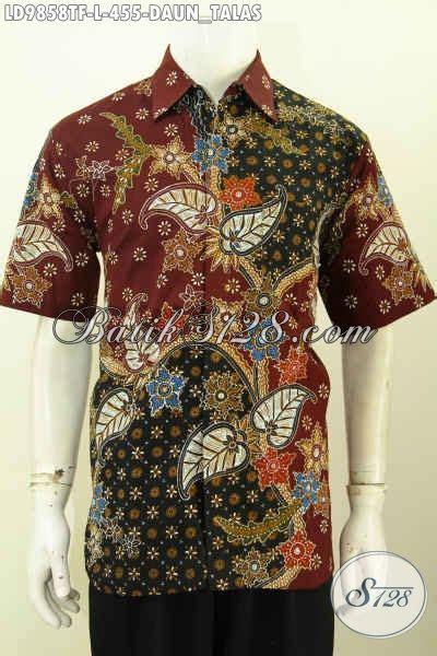 Batik Hem Lucyana Daun hem batik motif daun talas kemeja batik jawa etnik keren