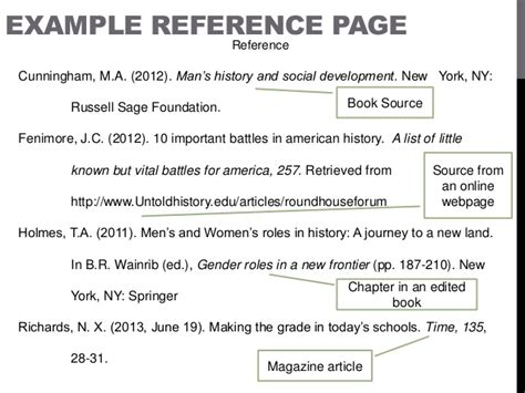 how to make a reference page for a resume apa format style power point