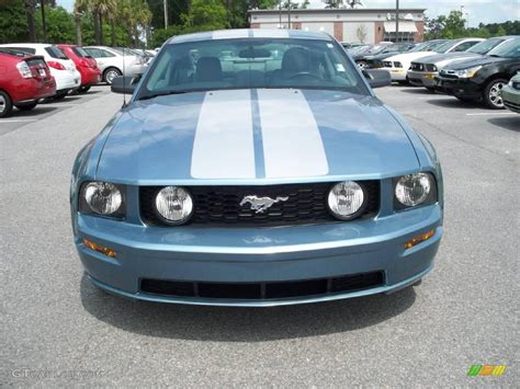light blue mustang gt 2006 windveil blue metallic ford mustang gt premium coupe