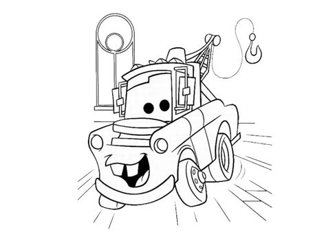 tow mater free colouring pages