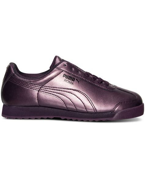 roma shoes s roma metallic casual sneakers from finish