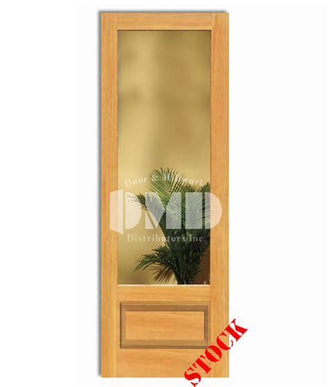 8 Panel Glass Interior Door 1 Lite Clear Glass Bottom Panel 3 4 Pine 8 0 96 Door And Millwork Distributors Inc