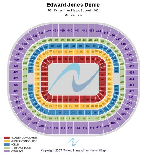 jones seating chart cheap edward jones dome tickets