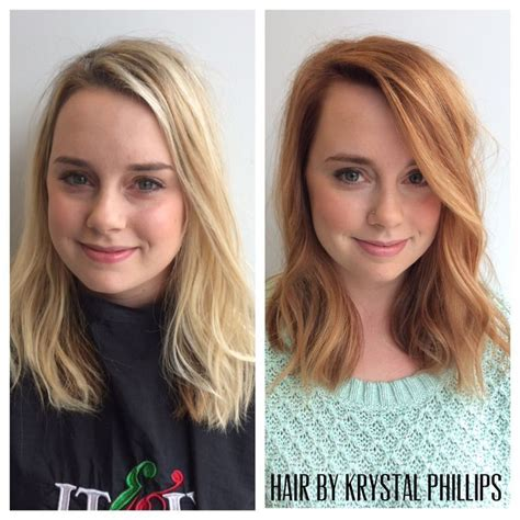 lightest strawberry blonde box before and after from light blonde to strawberry blonde