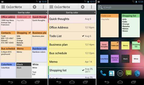 color note backup prise de note 10 applications efficaces pour android